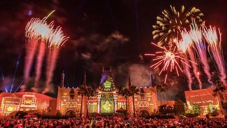 Fuegos artificiales sobre el evento Jingle Bell, Jingle BAM!