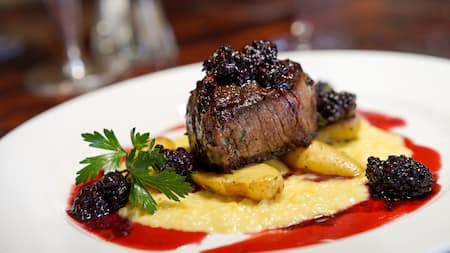 A well presented filet mignon dish
