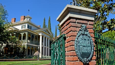 The exterior of the Haunted Mansion
