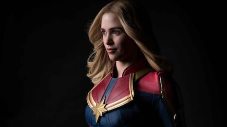 Captain Marvel in a heroic pose