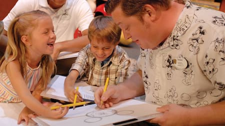 Get a hands-on drawing lesson with a Disney artist at the Animation Academy