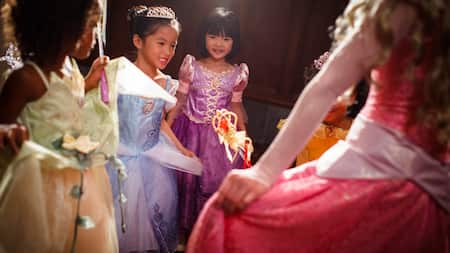 Young Guests dressed as Disney princesses