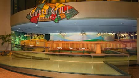 The Garden Grill at Epcot offers an ever-changing view of Living with the Land attraction
