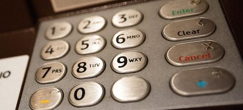 アウラニの ATM のキーパッド