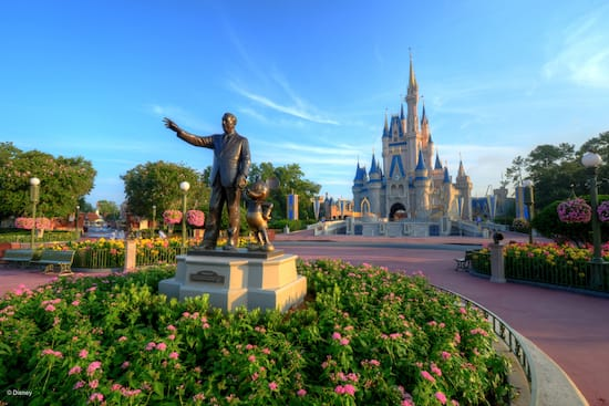 The Partners statue in front of Cinderella Castle