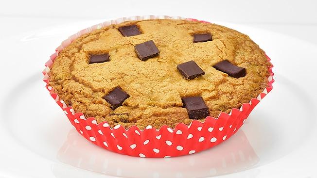 Un muffin aux pépites de chocolat