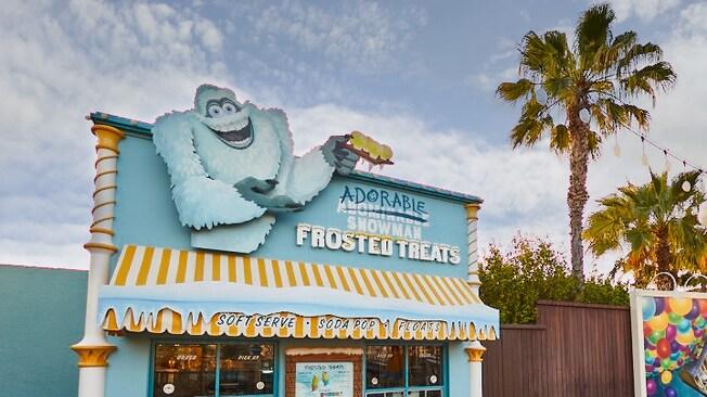 El exterior de Adorable Snowman Frosted Treats