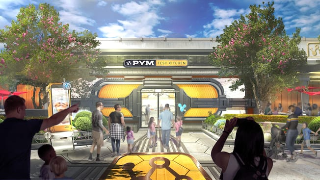 A rendering of the exterior of Pym Test Kitchen