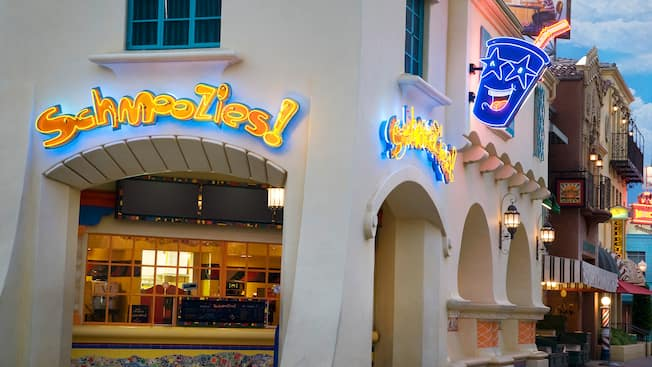 Entrance sign for Schmoozies! the smoothie bar at Disney California Adventure Park