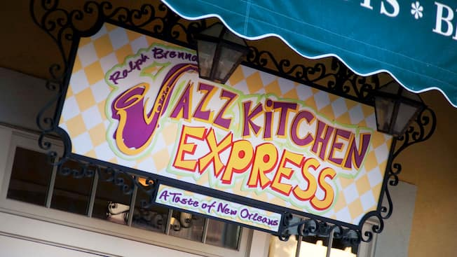 Sign for: Ralph Brennan's Jazz Kitchen Express, A Taste of New Orleans