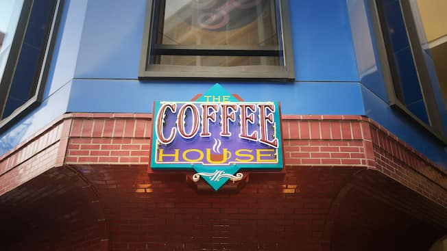 Sign for The Coffee House at the Disneyland Hotel