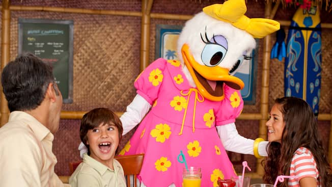 Daisy at Disney's PCH Grill for Easter Breakfast