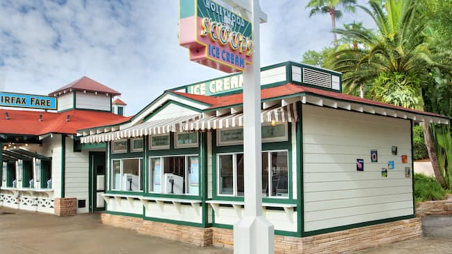 Exterior of Hollywood Scoops Ice Cream at Disney's Hollywood Studios