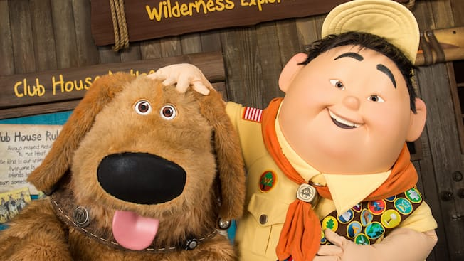 Russell & Dug at Discovery Island