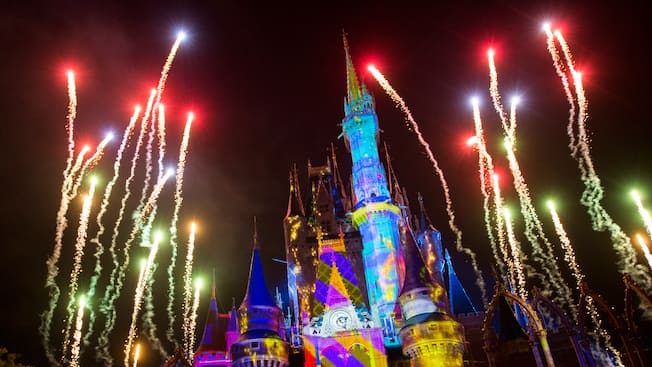Once Upon A Time Castle Projection Show Walt Disney World Resort