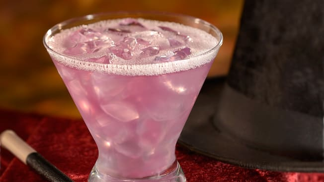 A vibrant cocktail ready to drink at AbracadaBAR at Disney's BoardWalk