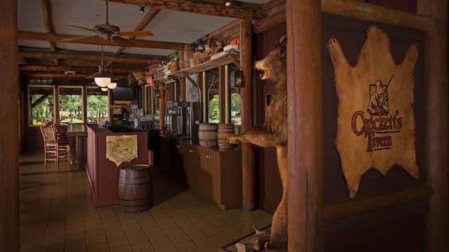Inside view of Crockett's Tavern located at Disney's Fort Wilderness Resort