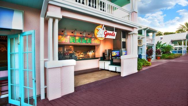 O balcão frontal do Good's Food To Go