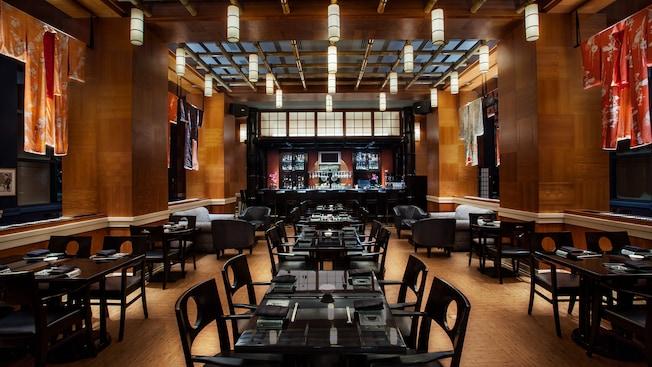 Comedor de Kimonos sushi restaurant en Walt Disney World Swan Hotel