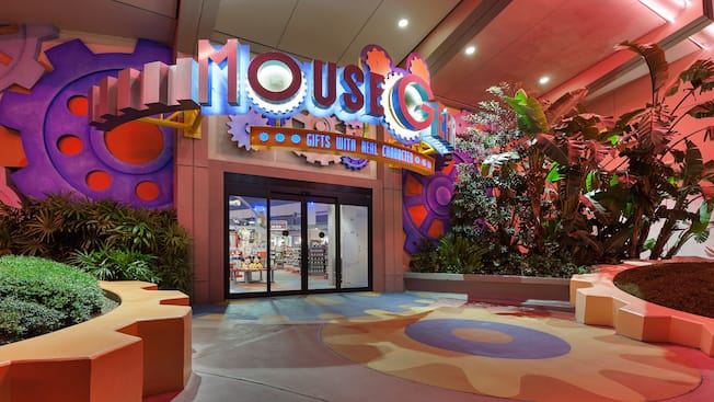 Entrance of the Mouse Gear gift shop in Future World at Epcot