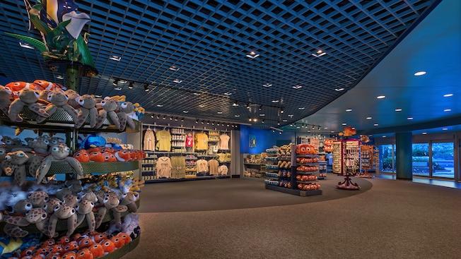 Interior de Sea Base Alpha Gift Shop en The Seas with Nemo & Friends Pavilion en Epcot