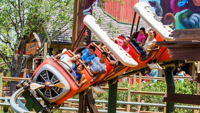 Families ride The Barnstormer