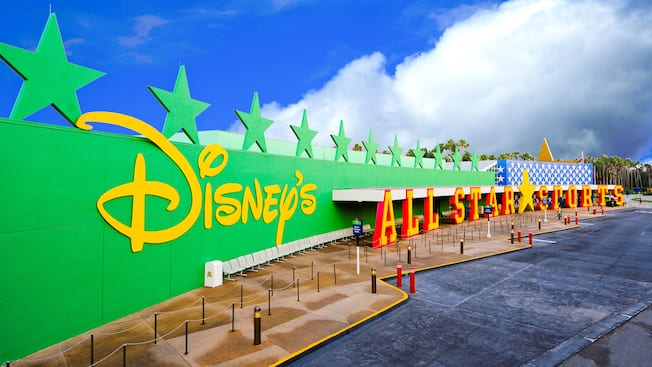 Panoramic view of Disney's All-Star Sports Resort entrance