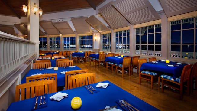 Lower dining level of Narcoossee's at Disney's Grand Floridian Resort & Spa