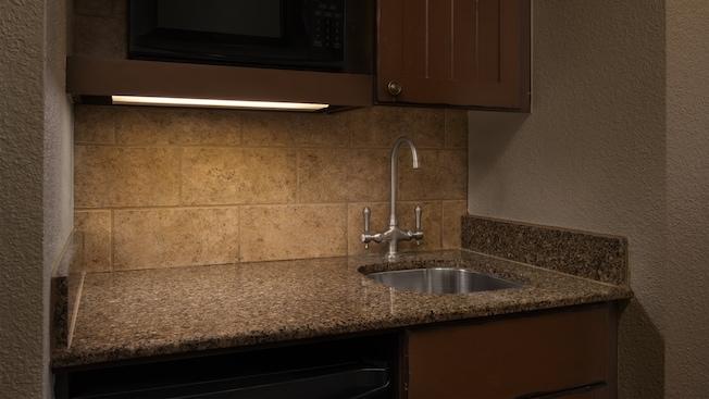 Uma pia de cozinha
