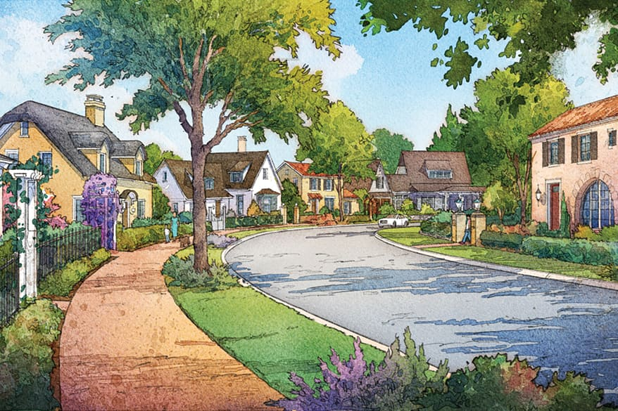 The Cottages at Symphony Grove. Artist rendering for Illustrative Purposes Only.