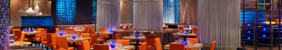 Relax into aquatics-inspired elegance, feasting on dishes created by celebrity chef Todd English