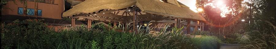 The port cochère at Disney's Animal Kingdom Lodge