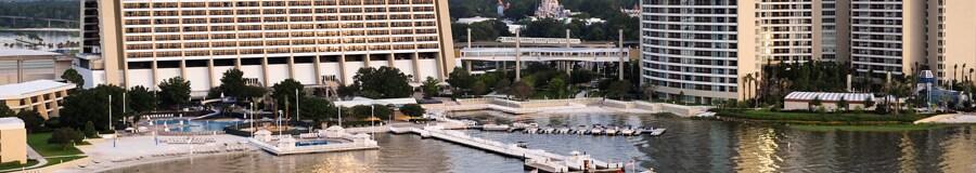 A marina with 2 adjacent pools