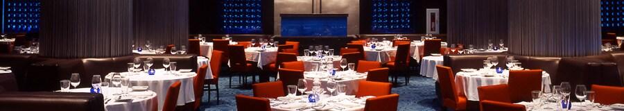 La salle à manger du Todd English's bluezoo, un restaurant exclusif de l'hôtel Walt Disney World Swan