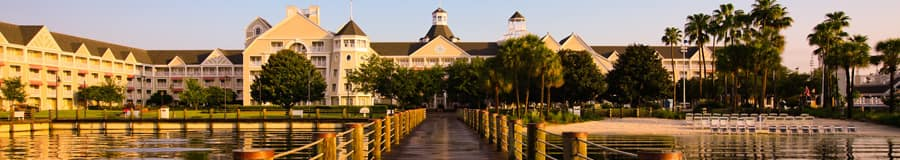 On the dock looking back at Disney's Yacht Club Resort