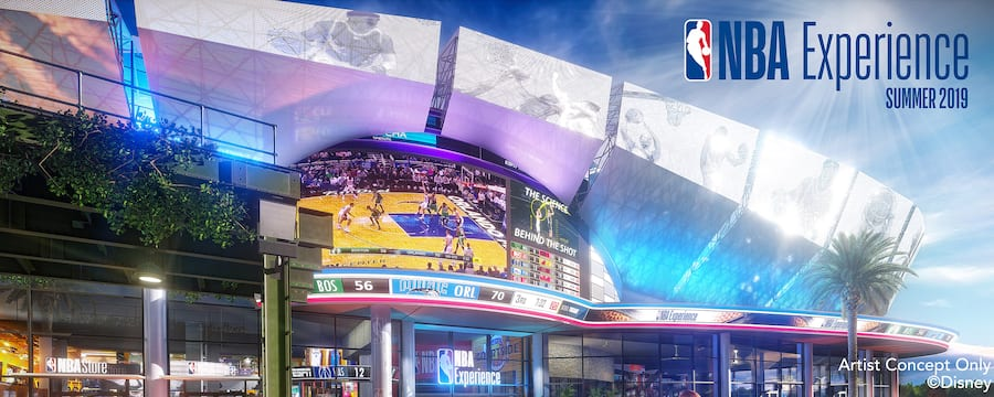 New at Disney Springs NBA Experience, Opening August 12 with 13 Unique Engaging Experiences