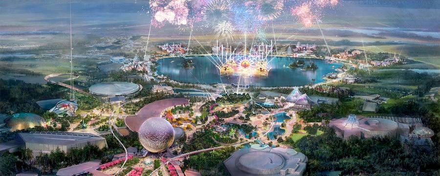 una ilustración del nuevo Epcot en Walt Disney World Resort, en el centro de la Florida