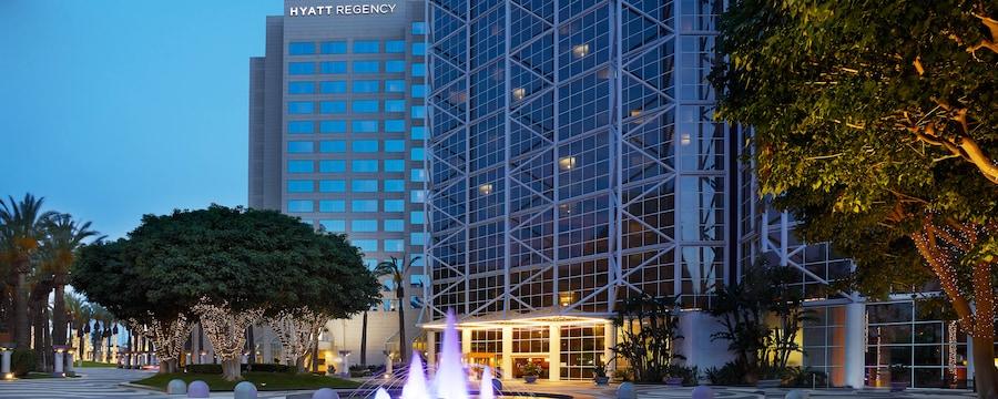 The exterior of the Hyatt Regency Orange County hotel
