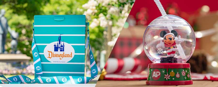 A collection of Passholder exclusive novelty popcorn buckets and sippers, including a Retro Premium Popcorn Bucket and Mickey Snow Globe Premium Sipper.