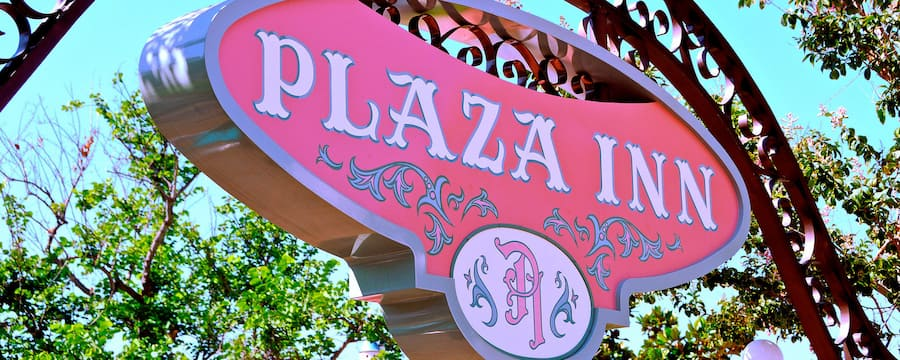 Plaza Inn entrance sign, Disneyland Park