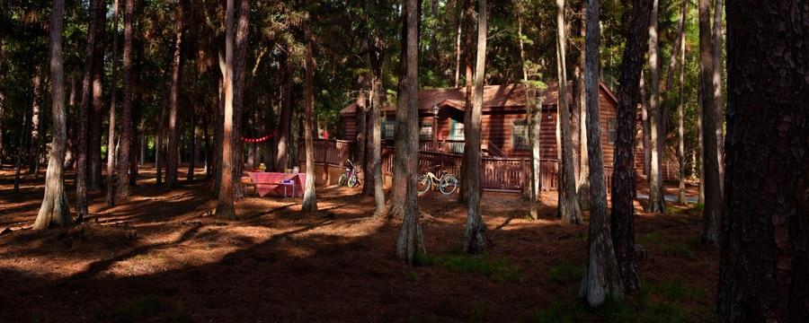 Cabaña entre los árboles en Disney's Fort Wilderness Resort