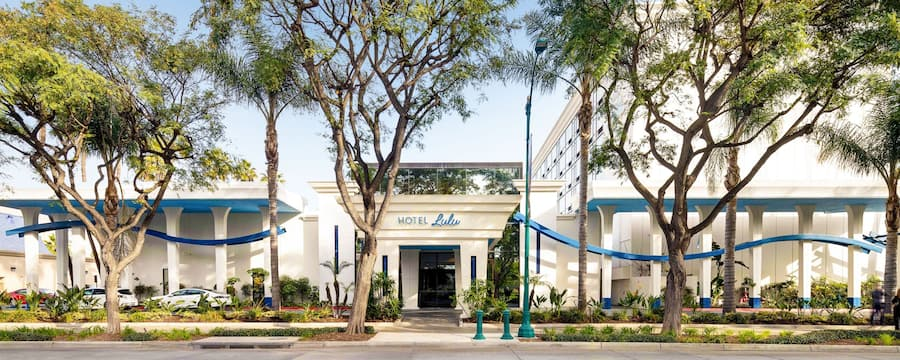 Hotel Lulu exterior with trees