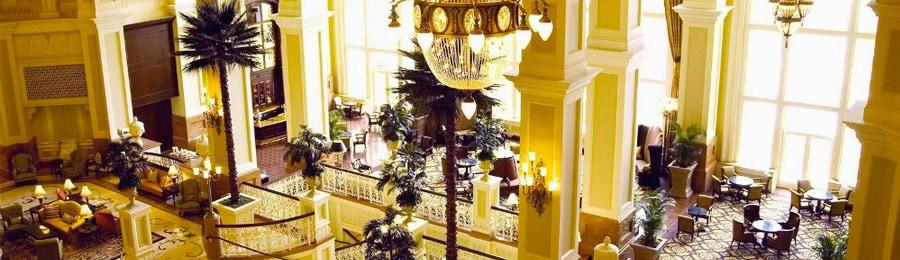 The lobby at Tokyo Disneyland Hotel
