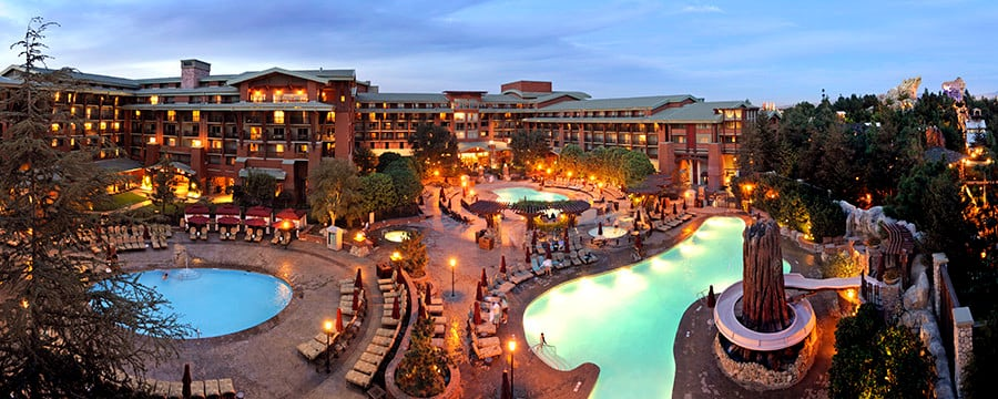 The pool area at Disney's Grand Californian Hotel & Spa