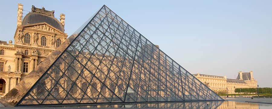 The Louvre Pyramid at the Louvre Museum