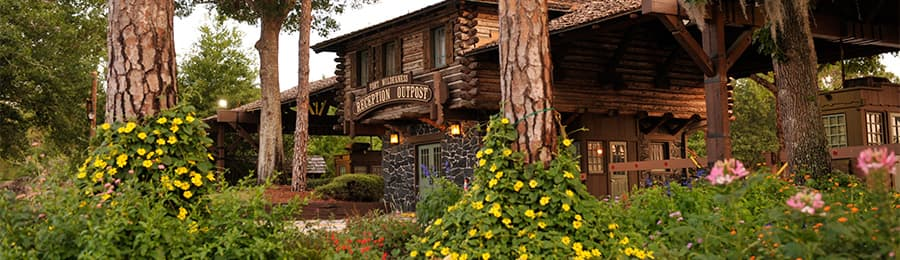 Reception Outpost, the check-in location for The Campsites at Disney's Fort Wilderness Resort