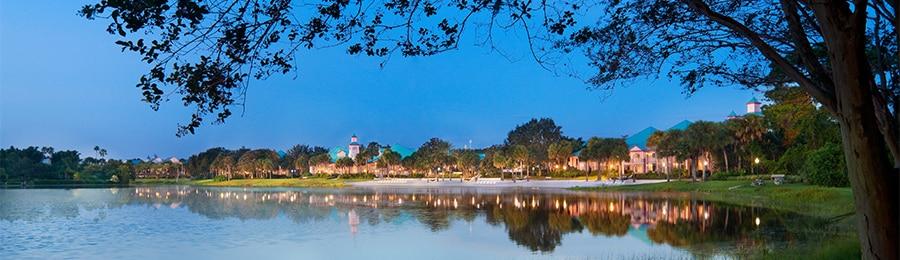 The lake surrounding Disney's Caribbean Beach Resort in Florida