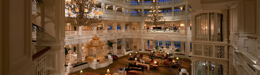 The lobby at Disney's Grand Floridian Hotel & Spa