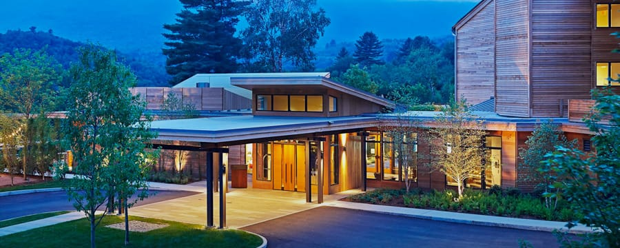 The entrance to Topnotch Resort and Spa in Stowe, Vermont
