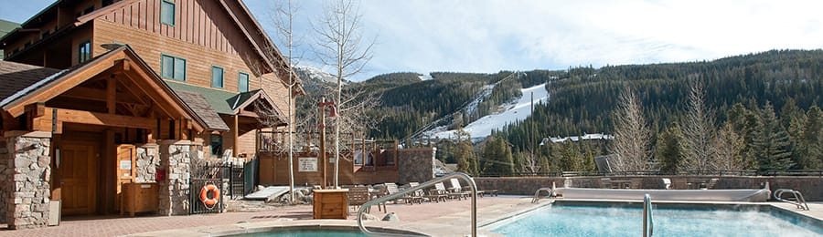 An outdoor swimming pool at Keystone Resort in Colorado